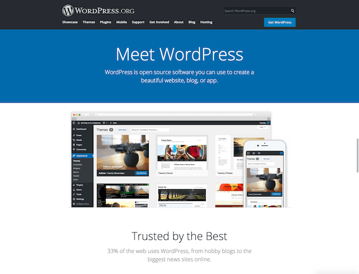 wordpress.org free blog creator