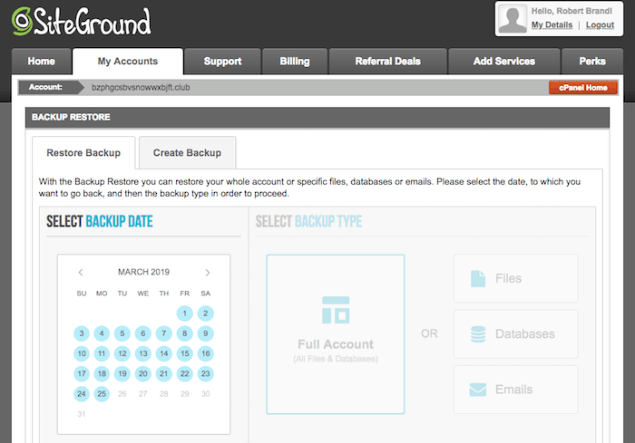 "Advanced SiteGround backup options ""width ="" 700 ""height ="" 489 [19659020] SiteGround on-demand backup system </em></img></p> <p>But I am a big fan of your On-demand backup system, only available on GrowBig and GoGeek plans. With a single click you can make a quick backup of your entire system (eg, Before an update) and restore it even faster if necessary.</p> <p><img class="